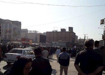 تظاهرات وإضراب عمال صناعة الصلب بمدينة الأهواز لليوم الثامن والثلاثين