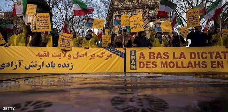 تضامنا مع الشعب من أجل إسقاط النظام الايراني