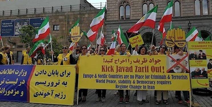 متظاهرون إيرانيون في باريس