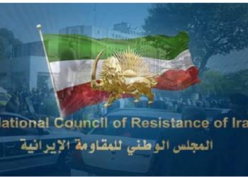 تعليق ولصق رسائل وصور قائد المقاومة مسعود رجوي