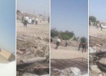إيران.. قوات قمعية تهدم منازل مواطنين عرب في بهبهان