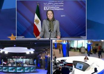 كلمة مريم رجوي في مؤتمر إيران- استمرار الجريمة ضد الإنسانية في البرلمان الأوروبي