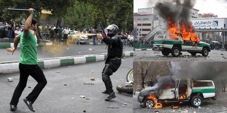 ارتياع زمرة الإصلاحيين في النظام الإيراني من انتفاضة شعبية ضد النظام