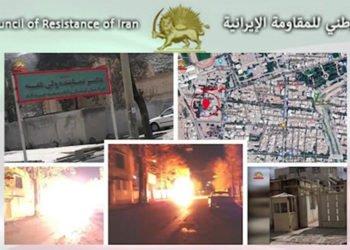 هجوم شباب الانتفاضة على مكتب إمام الجمعة وممثل الولي الفقيه في خرم آباد