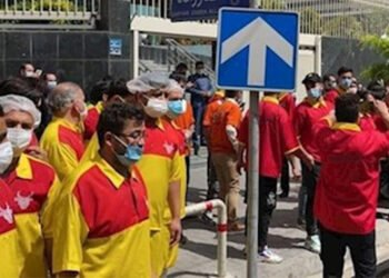 مسيرة احتجاجية للسواق والكسبة وبائعي الدجاج في مدن إيران