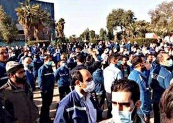 احتجاجات عمال مصانع الصلب في الأهواز ومصنع هفت تبه لقصب السكر
