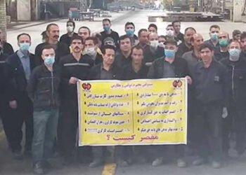 إضراب العمال والقوات الخدمية والمزارعين في همدان وآبادان وخرمشهر وسراوان