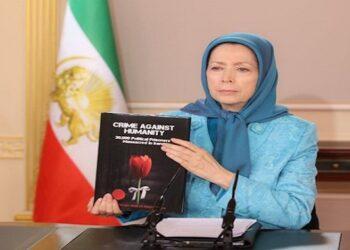 رجوي تطالب المجتمع الدولي بمحاكمة خامنئي ورئيسي وتؤكد على حق الايرانيين في اسقاط نظام الملالي